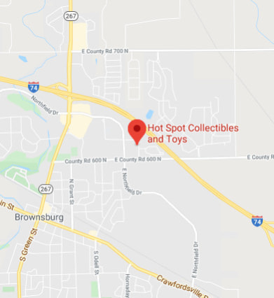 Map to Hot Spot Collectibles and Toys
