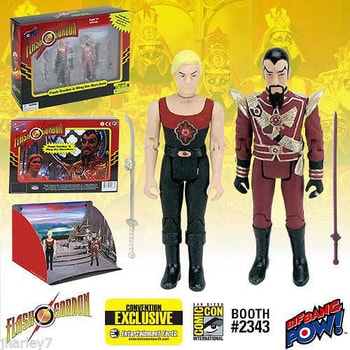 SDCC Flash Gordon 2 pack Exclusive