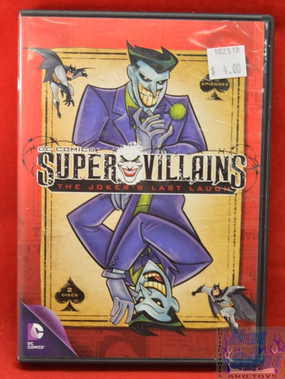 DC Comics Super Villains The Jokers Last Laugh DVD