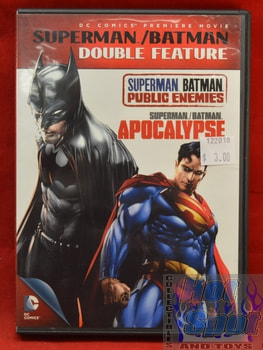 Batman Superman Double Feature DVD