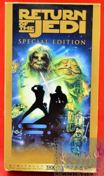 Star wars Return of the Jedi Movie on VHS