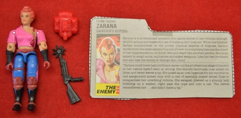 1986 Zarana (w/out earings) w/ Filecard & Accessories