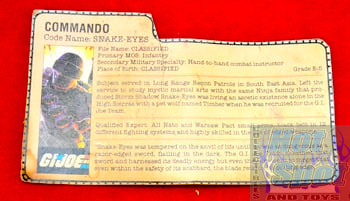 Snake-Eyes Commando File Card