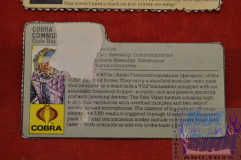 Tele-Viper File Card