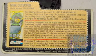 Tripwire Mine Detector File Card