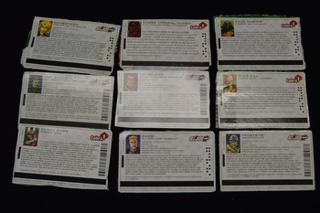 Lot of 9 File Cards