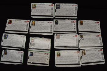 Lot of 14 Joe file cards including Storm Shadow