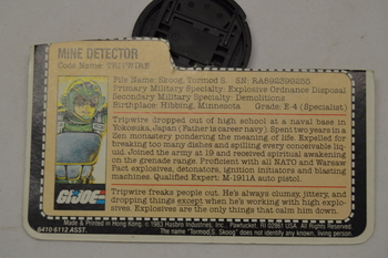 1983 Tripwire Mine Detector File Card