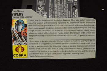Vipers Cobra Infantry File Card