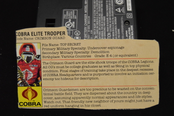 Cobra Elite Trooper Crimson Guard File card