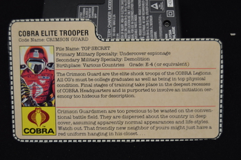 Crimson Guard Cobra Elite Trooper File Card