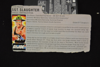 SGT. Slaughter Drill Instructor File Card