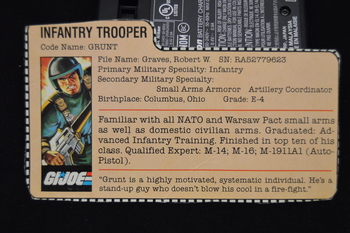Grunt Infantry Trooper File Card