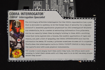 Cobra Interrogator File Card