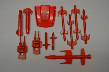 1987 Cobra Mamba Missiles guns and Parts Set