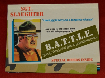1987 Mail-Away Insert Sgt. Slaughter Cover