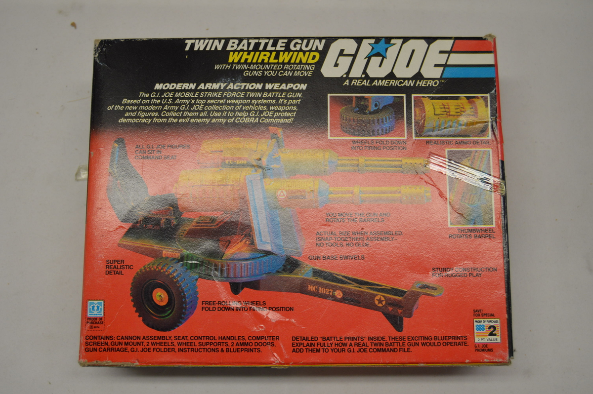 GI Joe VEHICLE PART 1983 Twin Battle Gun              Gun Door