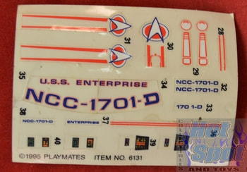 Enterprise NCC-1701-D Sticker sheet #6131