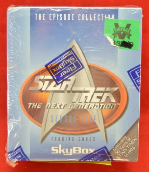 Star Trek Next Generation Season 5 Skybox Cards Box