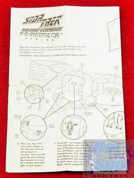 Next Generation Innerspace Personal Communicator Mini Playset Instructions