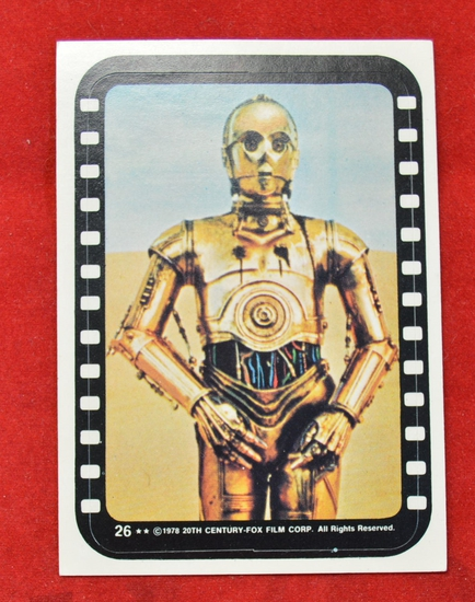 Sticker # 26 Black Film Cell C-3PO