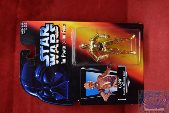 C-3PO with Realistic Metalized Body Power of the Force Red Card
