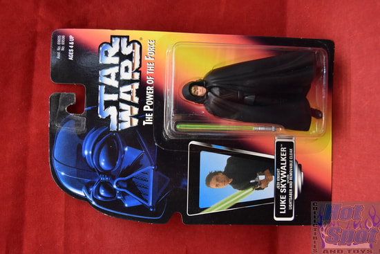 Jedi Knight Luke Skywalker with Lightsaber and Removable Cloak Power of the Force Red Card (Black Vest)