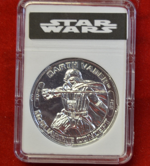 30th anniversary Darth Vader #28 Silver tone coin