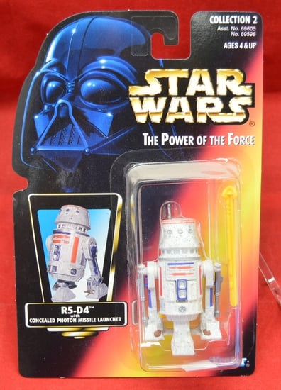 Red Carded Straight Latch R5-D4 Figure