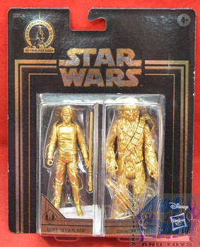 Gold 2-Pack Exclusive Chewbacca Luke Figures