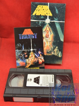 Star Wars trilogy 1st Issue Movie VHS with insert card 4242