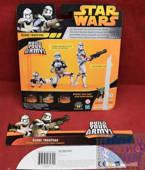 ROTS Clone Troopers 3 Pack Card Backer