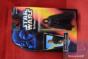 Red Card Jedi Knight Luke Skywalker w/ Lightsaber and Removable Cloak (Black Vest)