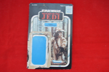 ROTJ Logray unpunched 65 A card Back