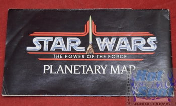 Star Wars Power of the Force Planetary Map booklet