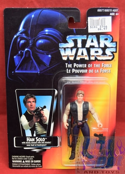 Power of the Force Canadian Carded Han Solo
