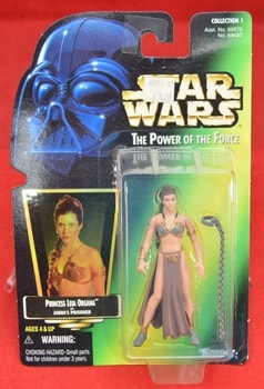 Holo Sticker Green Carded Slave Princess Leia Organa Figure