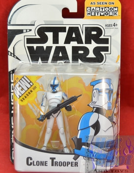 Clone Wars Clone Trooper Blue Figure