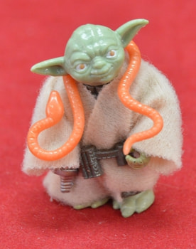 Yoda figure with Orange Snake