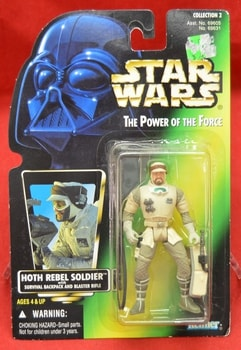 Green card Hoth rebel Soldier Figure