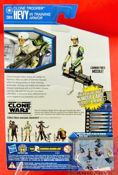 The Clone Wars CW41 Clone Trooper Hevy in Training Armor