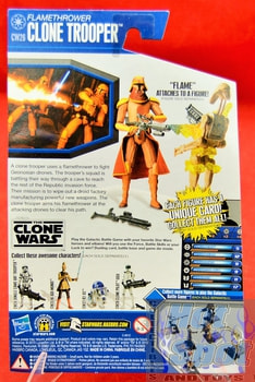 The Clone Wars CW26 Flamethrower Clone Trooper