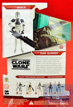 Star Wars The Clone Wars CW36 Clone Tank Gunner