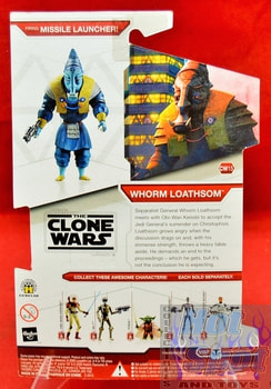 Star Wars The Clone Wars CW15 Whorm Loathsom