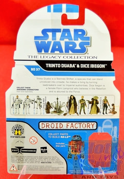 The Legacy Collection The Clone Wars BD37 Trinto Duaba & Dice Ibegon