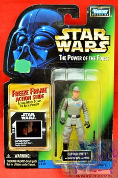 Freeze Frame Captain Piett Action Figure (sticker on cardback)