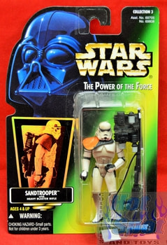 Green Card Sand Trooper Action Figure (Sticker)