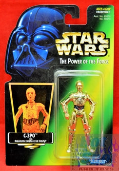 Green Card C-3PO Action Figure (Sticker)