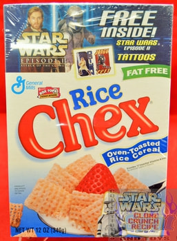 Rice Chex Star Wars Episode 2 Cereal Box