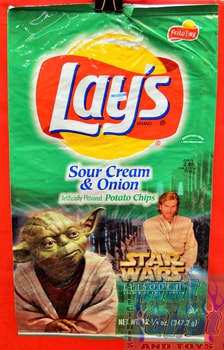 Lays Sour cream & Onion Chips Episode II Attack of the Clones Bag